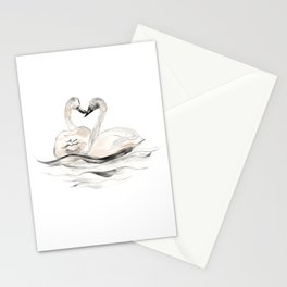 Swan Siblings Stationery Cards
