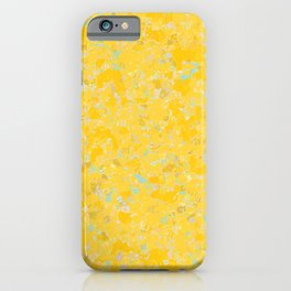 Solar Flare Molten Gold Abstract iPhone Case