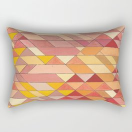 Triangle Pattern no.4 Warm Colors Red and Yellow Rectangular Pillow