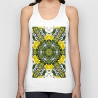 marc johns Tank Tops featuring Kaleidoscope of showy St Johns Wort  by Wendy Townrow