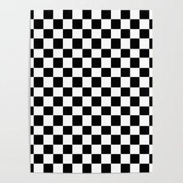Checkerboard (SF) - (Collection Black & White) Poster
