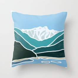 North Shore Lions Mountains Throw Pillow