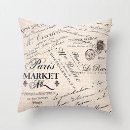 Paris Market 2 Throw Pillow