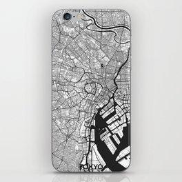Tokyo Map Gray iPhone Skin
