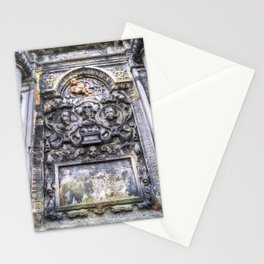 Ancient Grave Stone Greyfriars Kirk Graveyard Stationery Cards