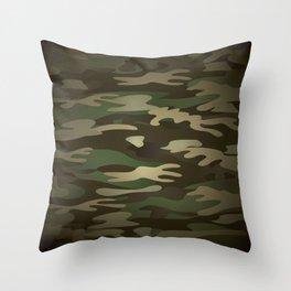 Military Camo Throw Pillow