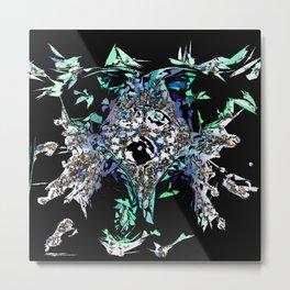 Skull Abstract Metal Print