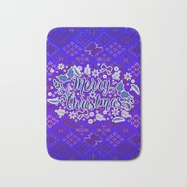 -A31- Merry Christmas Traditional Style. Bath Mat