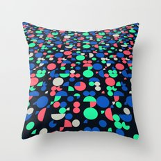 New Game, red black Throw Pillow