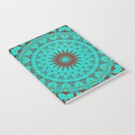 Mandala Fractal in Oxidized Copper 2 Notebook