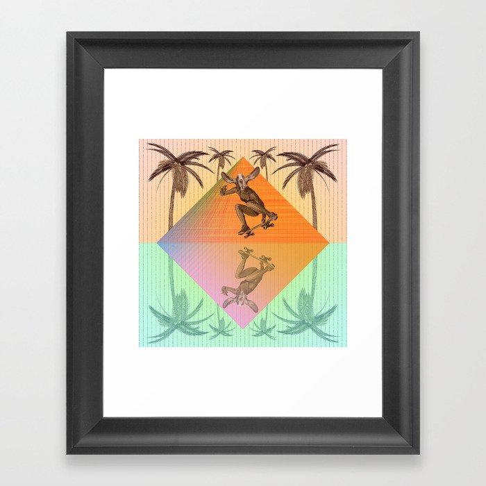 SKATEBOARDING FROM SUNRISE TO SUNSET  Framed Art Print