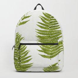 Watercolor Fern Pattern Backpack