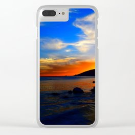 vibrant sky Clear iPhone Case