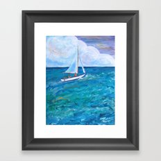 Gone Sailing Framed Art Print