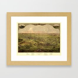 Map Of Lansing 1866 Framed Art Print