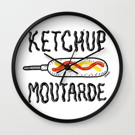Ketchup Moutarde Wall Clock
