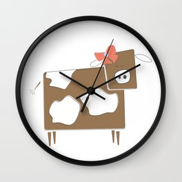 Cow Lady Wall Clock