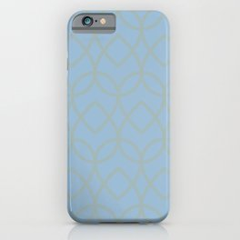 Pastel Blue Light Aqua Geometric Pattern Teardrop 2021 Color of the Year Earth's Harmony Grayed Aqua iPhone Case