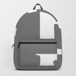 B MONOGRAM (WHITE & GRAY) Backpack