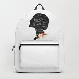 She is Clothed in Strength and Dignity Backpack