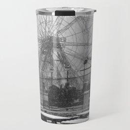 Coney Island Winter - Carousel Travel Mug