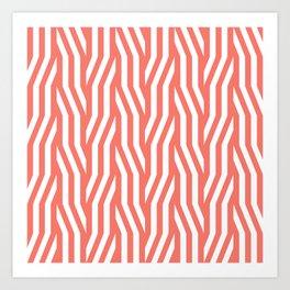 Geometric pattern in peach echo Art Print