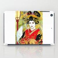 kitsune iPad Cases featuring Lady Kitsune by Stormwolf Studios