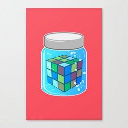 Rubix Cube in a Jar Canvas Print
