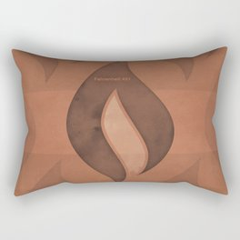 "Ray Bradbury ""Fahrenheit 451"" - Minimalist illustration literary design, bookish gift Rectangular Pillow"