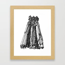 power of three Framed Art Print