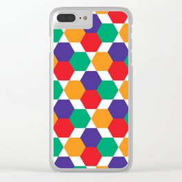 Geometric Shapes 03 Clear iPhone Case