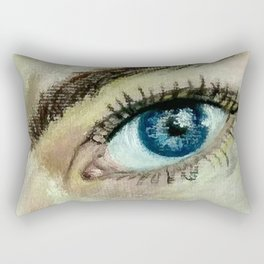 Eye (oil painting) Rectangular Pillow