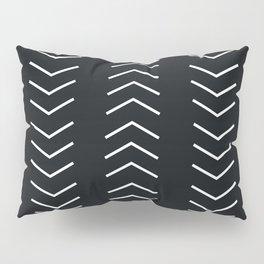 Mudcloth Black white arrows Pillow Sham