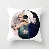 ying yang Throw Pillows featuring Ying Yang by Geek World