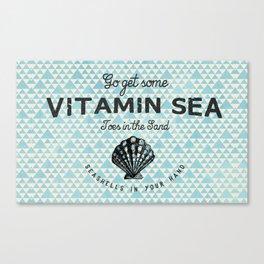 vitamin sea shells Canvas Print