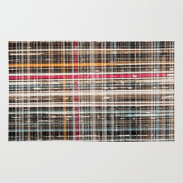 structure with red lines Rug