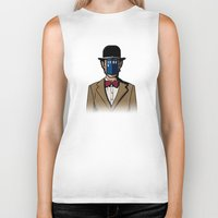 magritte Biker Tanks featuring Doctor Magritte by le.duc