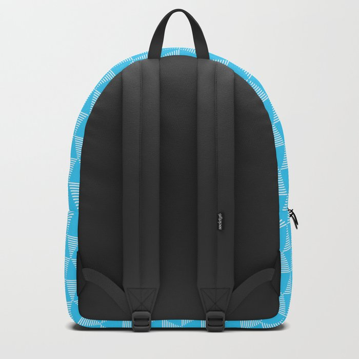 Simple Geometric Triangle Pattern- White on Teal - Mix & Match with Simplicity of life Backpack