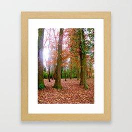 Fall-ing for the Season Framed Art Print