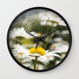 Daisy Flower Wall Clock
