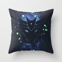 transformers Throw Pillows featuring Grunge Transformers: Decepticons by Sitchko Igor
