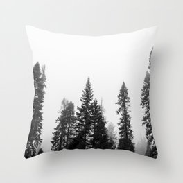 Deep in the Forest of Yosemite Throw Pillow