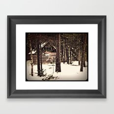 winter refuge Framed Art Print