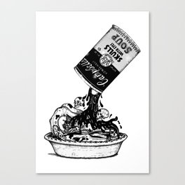 Campbell's Skull Soup  Canvas Print