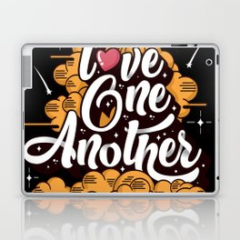 Love One Another Typography shirt Laptop & iPad Skin