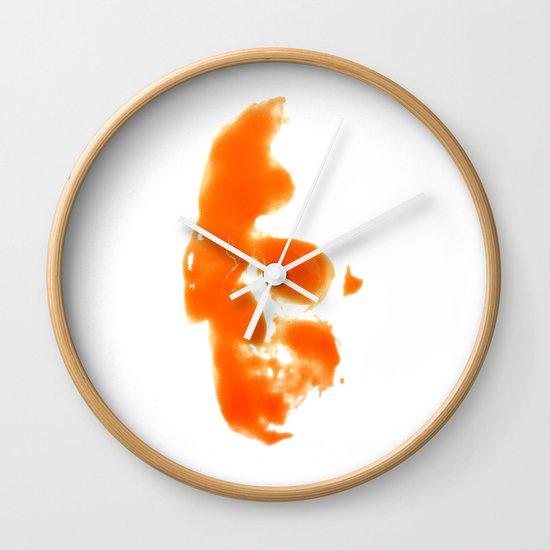 297. Hot Sauce Skull Wall Clock