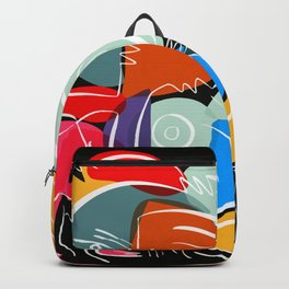 Love your family expressionist cubist street art Backpack