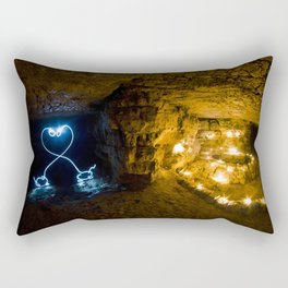 Two Long Necked Dachshund fall in love Rectangular Pillow