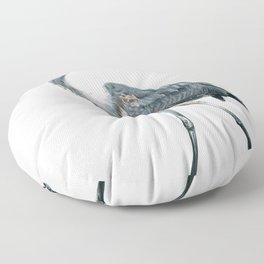 Blue Heron Floor Pillow