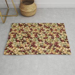 Pattern dietary beans and legumes Rug